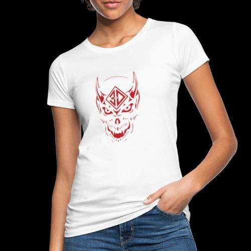 devil skull red - T-shirt bio Femme