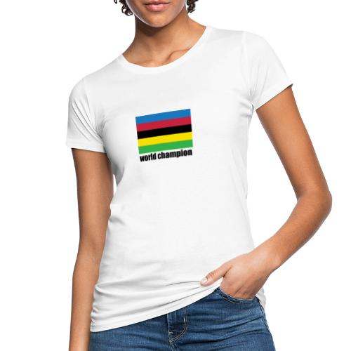 world champion cycling stripes - Vrouwen Bio-T-shirt