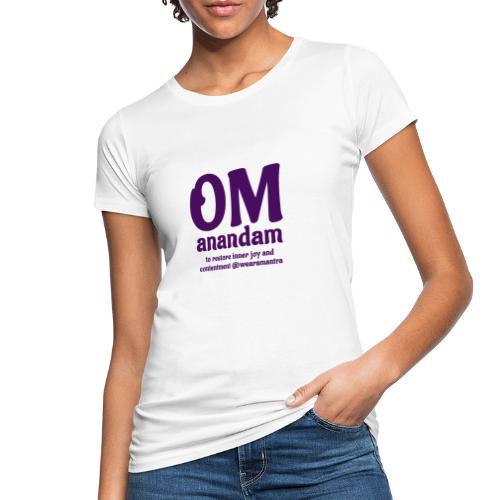 TS Om Anandam purple - T-shirt ecologica da donna