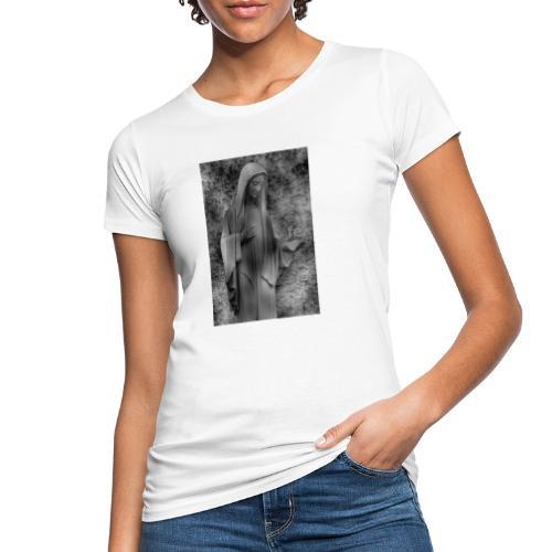 Jungfrau Maria, Medjugorje, schwarz weiß - Frauen Bio-T-Shirt