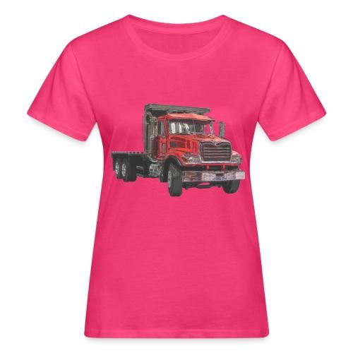 Flat Truck 3-axle - Red - Women's Organic T-Shirt