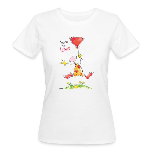 OUPS T Shirt Born to Love - Frauen Bio-T-Shirt
