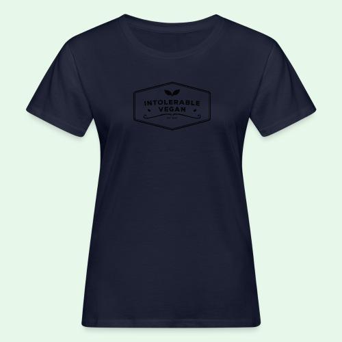 Intolerable Vegan Logo - Black - Ekologisk T-shirt dam
