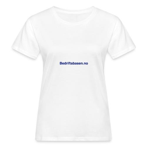 Bedriftsbasen.no logo - Økologisk T-skjorte for kvinner