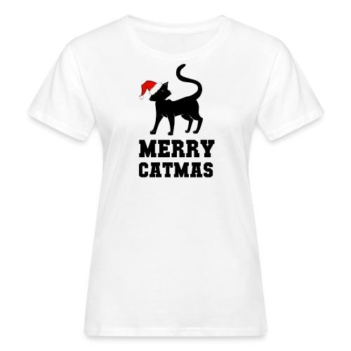 Merry Catmas - Silhouette - Frauen Bio-T-Shirt