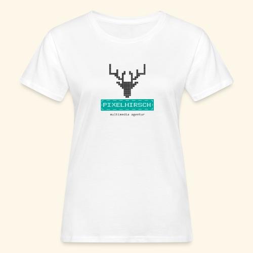PIXELHIRSCH - Logo - Frauen Bio-T-Shirt