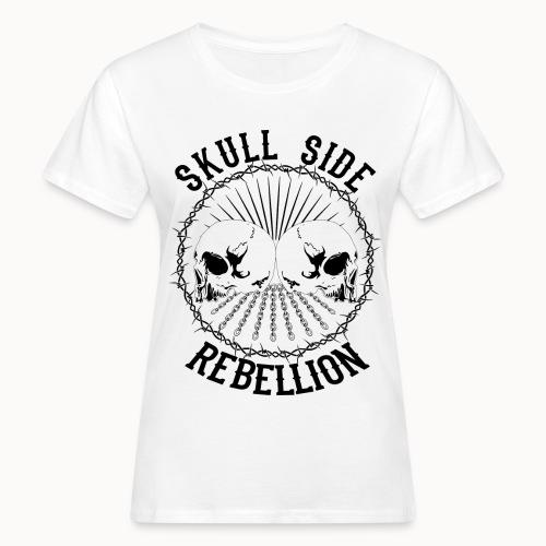 Skull side rebellion - Frauen Bio-T-Shirt