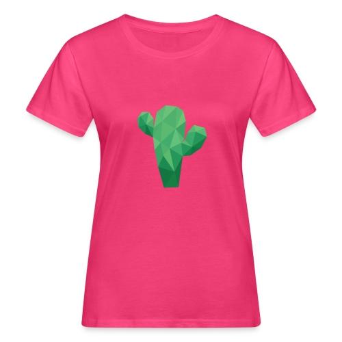 Kaktus Low Poly Art - Frauen Bio-T-Shirt