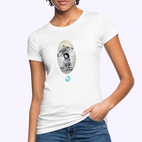 rain. Young woman - T-shirt ecologica da donna