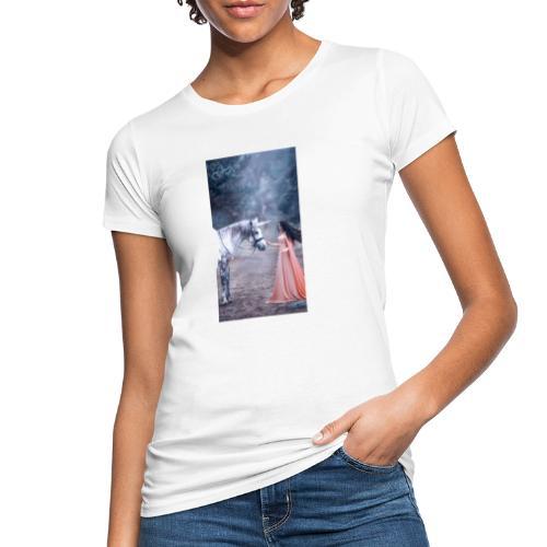 Unicornio con mujer bella - Camiseta ecológica mujer