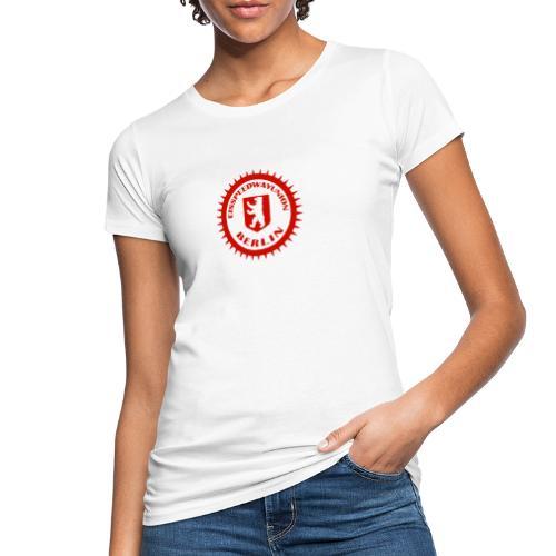 Logo in Rot Weiß - Frauen Bio-T-Shirt