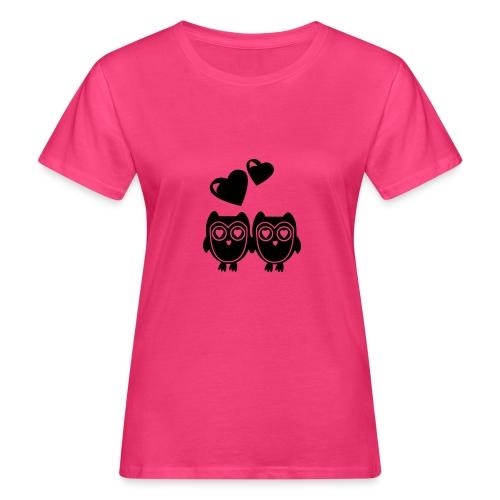 verliebte Eulen - Frauen Bio-T-Shirt