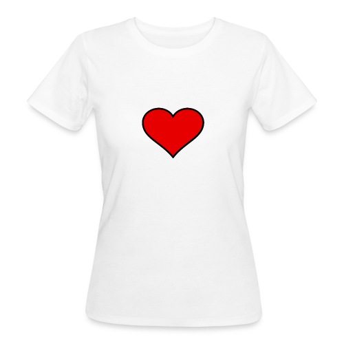 big heart clipart 3 - Ekologisk T-shirt dam