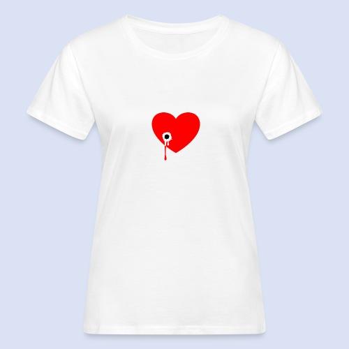Cœur troué - T-shirt bio Femme