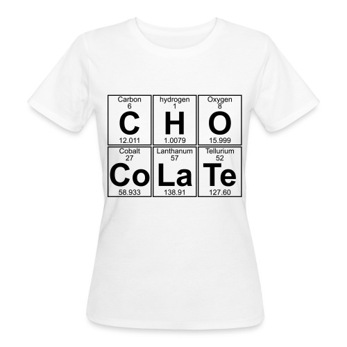 C-H-O-Co-La-Te (chocolate) - Full - Women's Organic T-Shirt