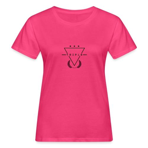 NEW TRIPLE LOGO Design 1 - Women's Organic T-Shirt