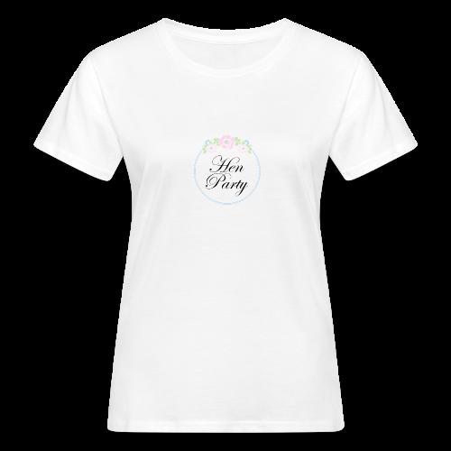 Floral Border Hen Party - Women's Organic T-Shirt