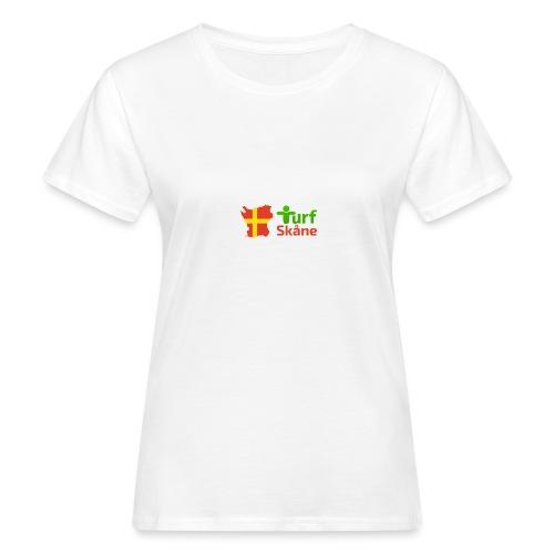 Turf Skåne Logo röd - Ekologisk T-shirt dam