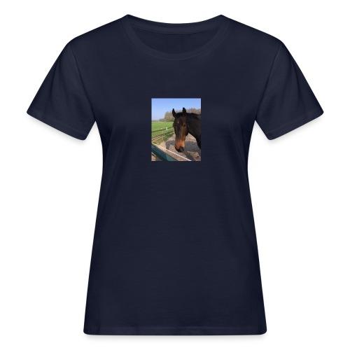 Met bruin paard bedrukt - Vrouwen Bio-T-shirt