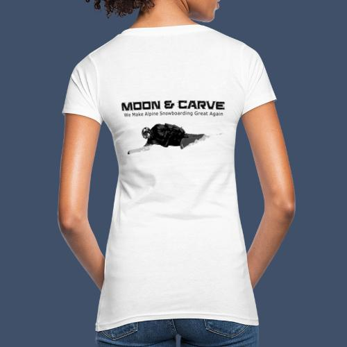Moon & Carve Backside - Frauen Bio-T-Shirt