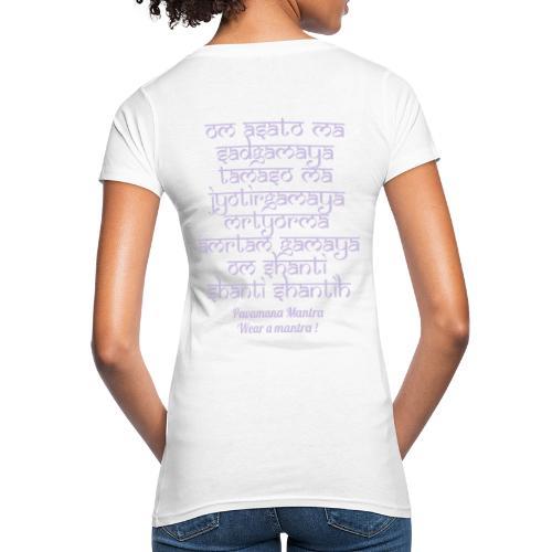 Om Asatoma Sadgamaya - T-shirt ecologica da donna