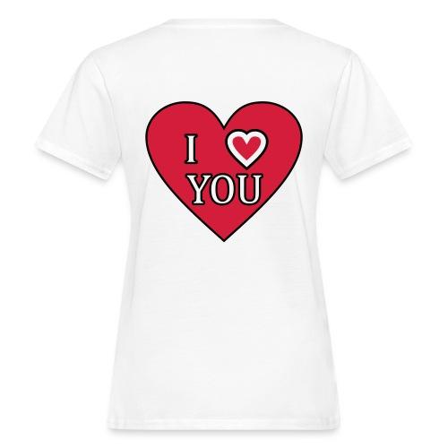 Herz - I love you - Frauen Bio-T-Shirt