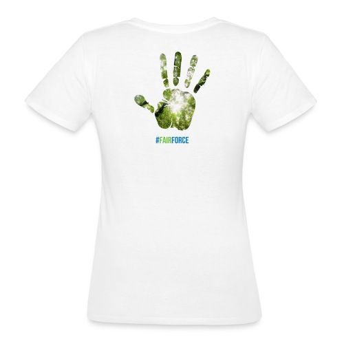 Fairforce Handprint - Women's Organic T-Shirt