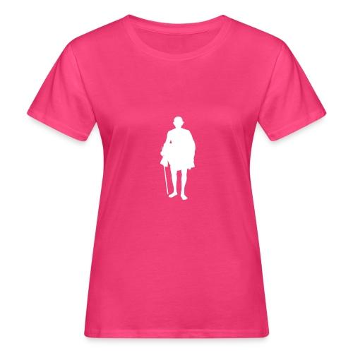 mahatma gandhi silhouette ac61da original white - T-shirt bio Femme