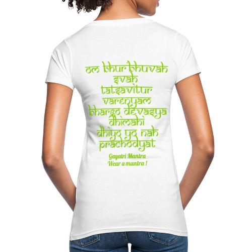OM Bhur Bhuva Svaha - T-shirt ecologica da donna