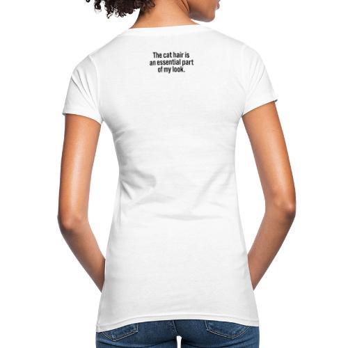 The cat hair - Naisten luonnonmukainen t-paita