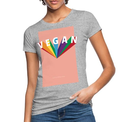 VEGAN Rainbow - Frauen Bio-T-Shirt