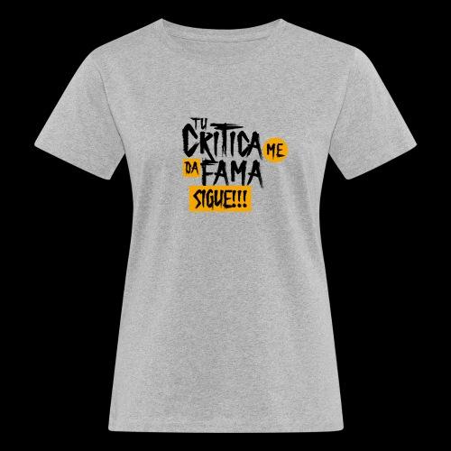 CRITICA - Camiseta ecológica mujer