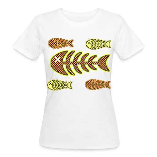dead fishes - legs in orange and yellow - Women's Organic T-Shirt
