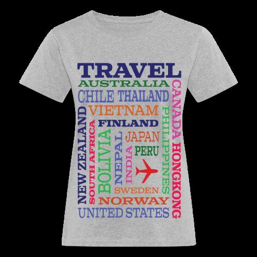 Travel Places design - Naisten luonnonmukainen t-paita