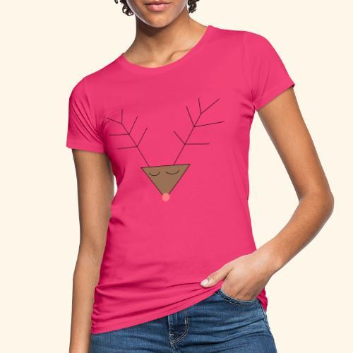 Pink nose reindeer - T-shirt bio Femme