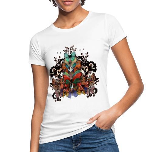Pizzo e farfalle - T-shirt ecologica da donna