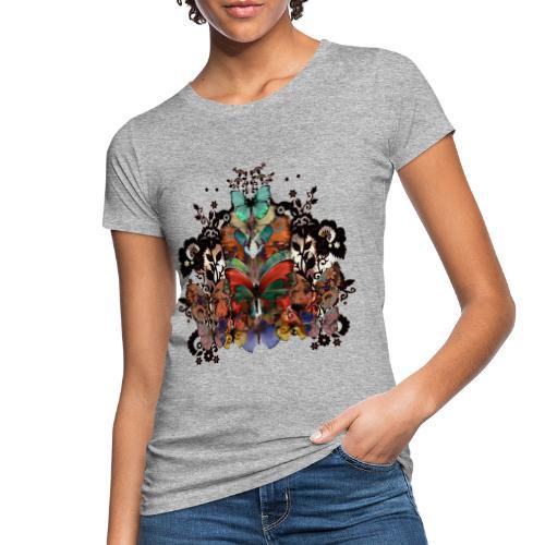 Lace and Butterflies - T-shirt ecologica da donna
