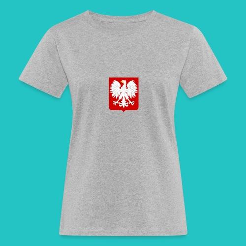 Koszulka z godłem Polski - Ekologiczna koszulka damska