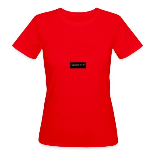 orange writing on black - Women's Organic T-Shirt