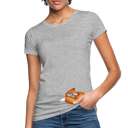 vosje met kat - Women's Organic T-Shirt