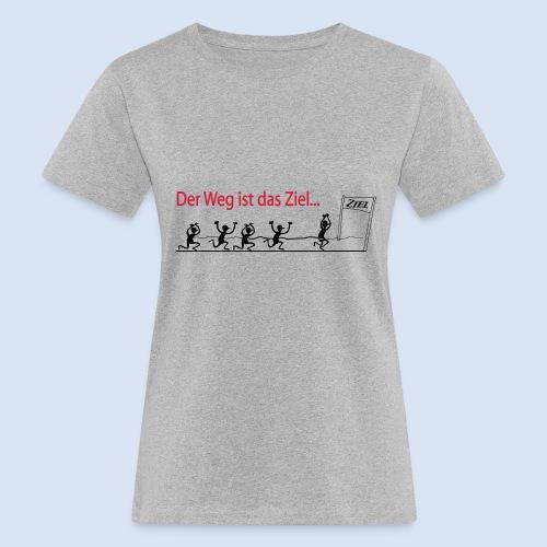 Der Weg ist das Ziel - Marathon - Frauen Bio-T-Shirt