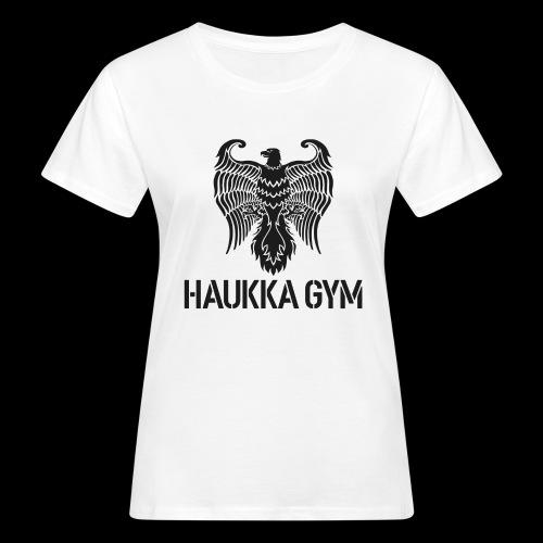 HAUKKA GYM LOGO - Naisten luonnonmukainen t-paita