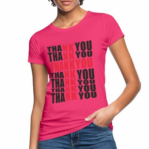 Motyw z napisem Thank You - Ekologiczna koszulka damska