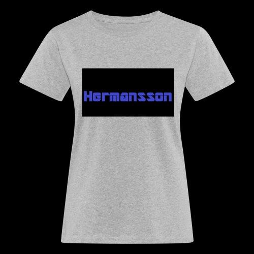Hermansson Blå/Svart - Ekologisk T-shirt dam