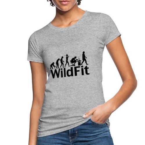 WildFit Logo Evolution in Schwarz - Frauen Bio-T-Shirt