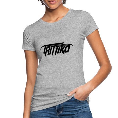 Trittiko Logo Schwarz - Frauen Bio-T-Shirt