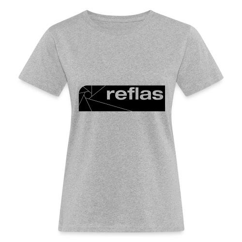 Reflas Clothing Black/Gray - T-shirt ecologica da donna