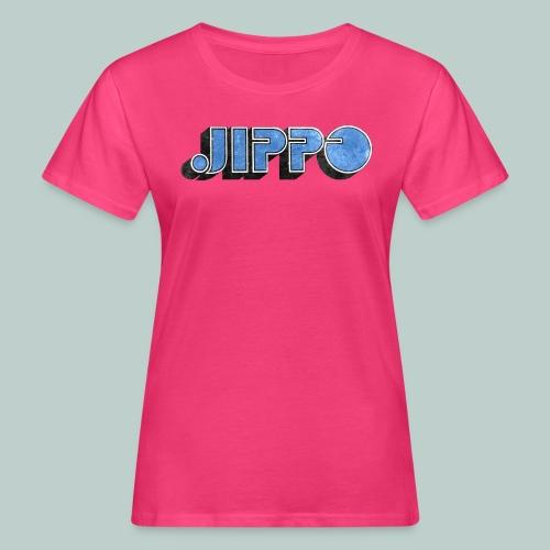 JIPPO LOGO (blue) - Naisten luonnonmukainen t-paita