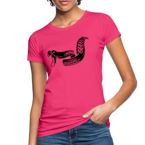 Singletrail.at - dein Reifen wird zur Schlange! - Frauen Bio-T-Shirt