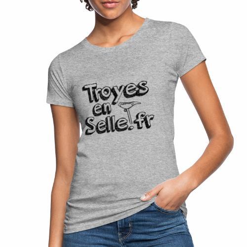 logo Troyes en Selle noir - T-shirt bio Femme